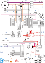amf control panel circuit diagram pdf genset controller throughout