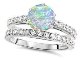opal wedding ring opal wedding ring sets wedding corners
