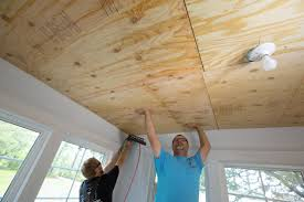 how to install a reclaimed wood ceiling treatment how tos diy