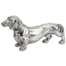 imax worldwide home decorative figurines oscar stick silver dog