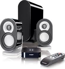 compact home theater receiver paradigm millenia ct 2 powered compact 2 1 speaker system with
