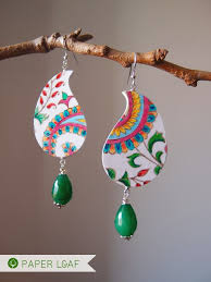 cardboard earrings 183 best paper leaf jewelry from paper images on