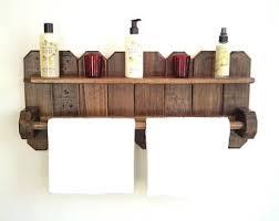 Wood Bathroom Shelves by Wood Towel Rack Etsy