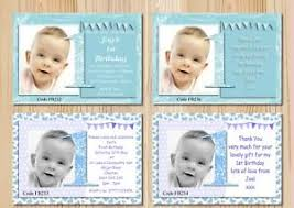 boys first birthday invitations cards or thank you cards with