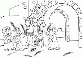 palm sunday coloring pages 386517