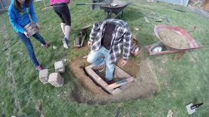 How To Make A Brick Fire Pit In Your Backyard by Diy In Ground Fire Pit Youtube