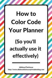 25 color codes ideas college planner