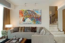wildlife home decor wildlife wall art print plus 100 hand painted zebra canvas oil