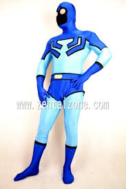 dc comics blue beetle lycra spandex superhero zentai costume