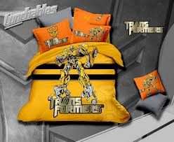 Transformer Bed Set New 2014 Home Use Transformers Bumblebee Bedding Set 100 Cotton