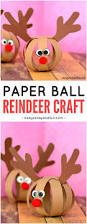 paper ball reindeer craft easy peasy and fun
