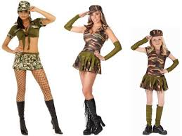 Army Costumes Halloween Dressing Female Chauvinist Pig Halloween