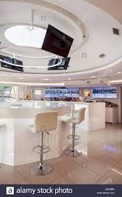 futuristic furniture interior of a modern cafe bar white futuristic furniture with