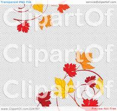 halloween border transparent background royalty free rf clipart illustration of a border of autumn leaf