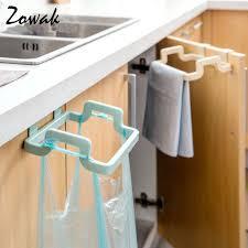 kitchen cabinet towel rack hanging kitchen cupboard door back style stand trash garbage bags