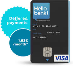 the hello credit card our offer hello bank