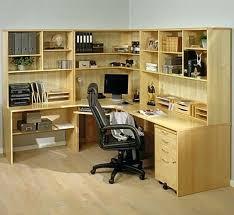Felix Corner Desk Desk Felix Home Office Wooden Corner Computer Desk In Plumtree