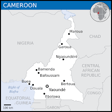 Blank Political Map by Cameroon Map Blank Political Cameroon Map With Cities