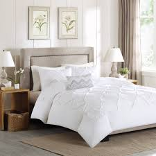 ruffled white duvet cover theamphletts com