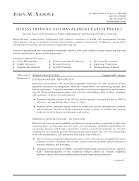 personal trainer resume experience resumes