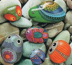 Painting Rocks For Garden Painted Rocks For Artistic Yard And Garden Designs 40