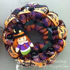 christy gets crafty halloween deco mesh designs