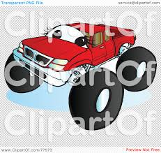 monster trucks clipart royalty free rf clipart illustration of a big red monster truck