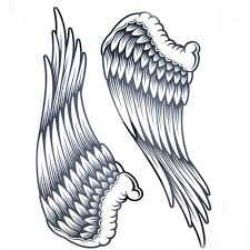 aliexpress com buy 1pcs big cool mens black wing tattoos