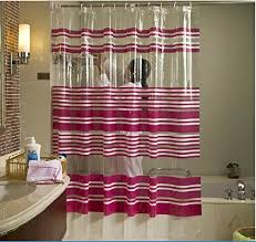 Transparent Shower Curtain Buy Beautiful Red Striped Green Waterproof Transparent Pvc Shower