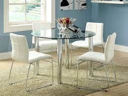 glass top dining table set 4 chairs round glass dining table with chairs appealing small round glass