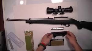 ruger 10 22 light mount ruger 10 22 rifle tactical mounts utg bug buster scope youtube