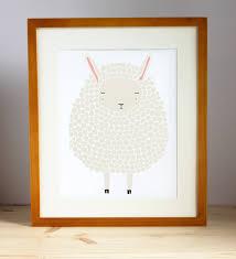 gray sheep art print sheep nursery art lamb art print sheep