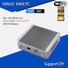 pc bureau wifi intégré mini ordinateur de bureau celeron j1900 cpu micro pc 2 lan