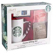 hot cocoa gift set buy starbucks hot chocolate mug lindt gift set from our