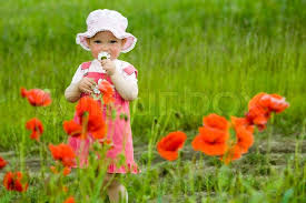 baby flowers baby girl with flower stock photo colourbox