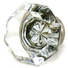 clear crystal octagon glass cabinet knobs 10 drawer pulls