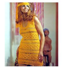 Vintage Crochet Pattern Pdf Fashion by Vintage 1960s Mod See Through Mini Go Go Dress Fringe Headband