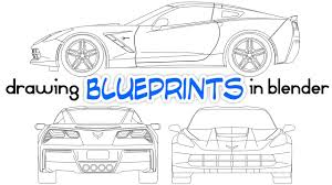 drawing car blueprints using blender youtube