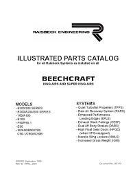 raisbeck king air parts manual 85 119 d o