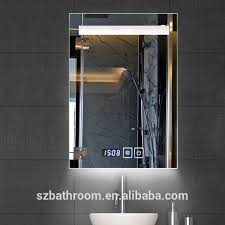 led bathroom mirror with digital clock led bathroom mirror with