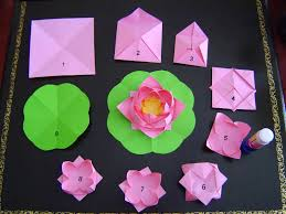 Making Of Flowers With Paper - a story of making paper lotus flowers photos falun dafa