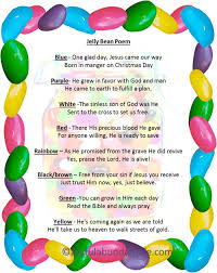free easter poems jelly bean poem easter gift jelly beans free printable and easter