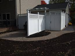 new back paver walkway and trash can pad nickett landscaping