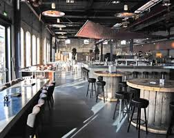 industrial style interior design of stork restaurant in amsterdam