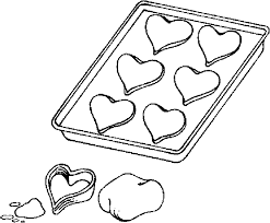 valentine cookies coloring color book