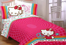 bed comforter sets for teenage girls hello kitty queen size bedding vnproweb decoration