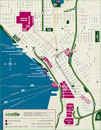 Seattle Rail Map by Custom Seattle Map Visit Seattle