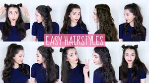 easy half up half down hairstyles youtube