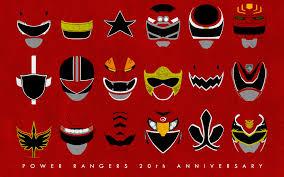 power rangers 20th anniversary red rangers calicostonewolf