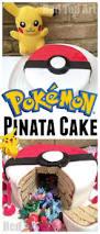 diy pokemon cake surprise pinata pokeball cake red ted art u0027s blog
